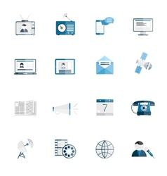Media icons flat set vector image vector image