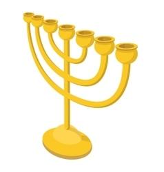 Menorah for Hanukkah cartoon vector image