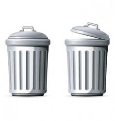 metal trash can vector image vector image