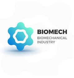 biomechanical business logo vector image vector image