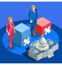 Election Infographic Pools Candidate Isometric vector image vector image