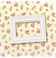 Frame on floral background vector image