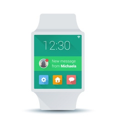 Smart watch concept with simple user interface vector image