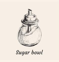 sugar bowl vector image vector image