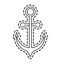 anchor sticker icon image vector image