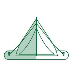 camping materials flat shadow vector image vector image