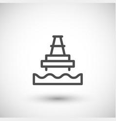 offshore oil platform line icon vector image