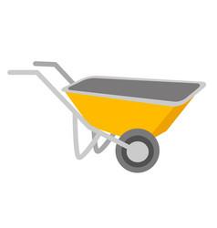 yellow wheelbarrow cartoon vector image
