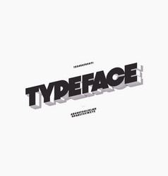 3d bold font modern typography vector image