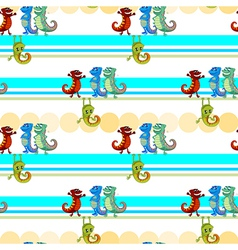 A seamless design with lizards vector image