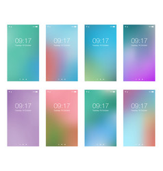abstract bright blur backgrounds for smartphone vector image