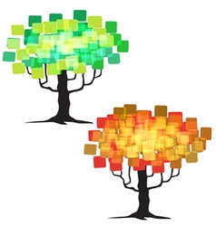 Abstract tree - graphic element - two trees vector
