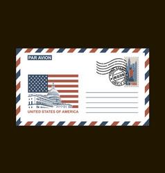 american postal envelope vector image