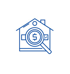 analysis of real estate prices line icon concept vector image