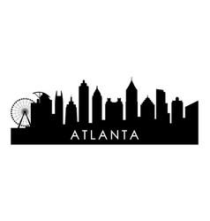 Atlanta georgia skyline silhouette vector