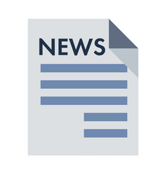 Black newspaper icon isolated on background vector
