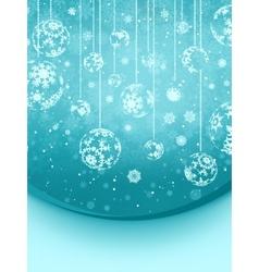 Blue elegant christmas snowflakes EPS 8 vector image