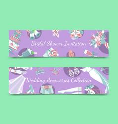 bridal shower invitation save vector image