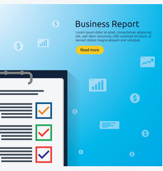 Business analyst or financial research report vector