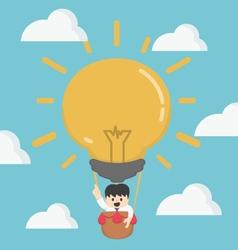 Businessman in hot air Big Idea vector