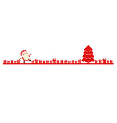 christmas advent calendar with santa claus vector image