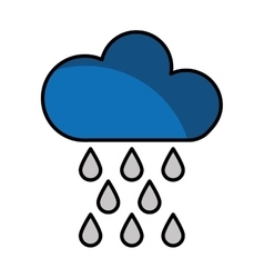 cloud with rain drops climate sign isolated icon vector image