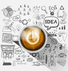 Coffee turn on your creativity vector