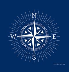 compass in flat style rose of vector image