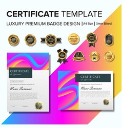 Creative certificate template with luxury and vector