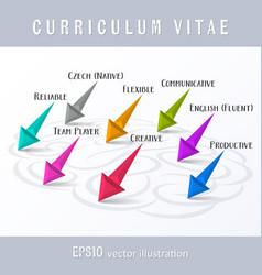 Creative original cv template vector