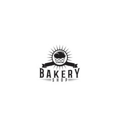 cupcake bakery logo designs inspiration isolated vector image