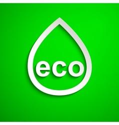 Eco symbol Design element Eps10 vector image