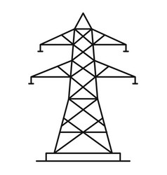 energy pole icon outline style vector image