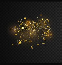 Golden star confetti vector