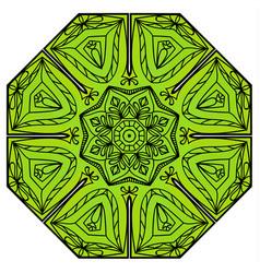 green eight-pointed mandala vector image