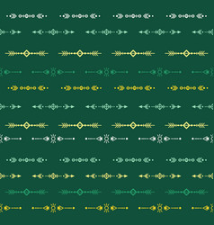green seamless pattern with tribal ethnic vector image