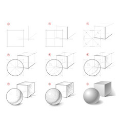 How to draw step-wise still life sketch of vector
