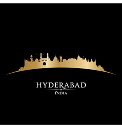 Hyderabad India city skyline silhouette vector image