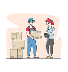 Inventory delivery service or storehouse vector