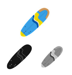 Isolated object surfboard and surf symbol set vector