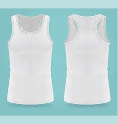 Isolated realistic white t-shirts for women sport vector