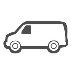isolated van icon vector image