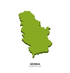 Isometric map of serbia detailed vector