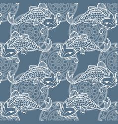 Koi carps seamless texture vector