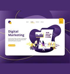 landing page digital marketing modern style vector image