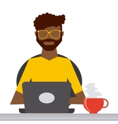 Man working icon vector