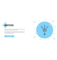 method icon banner outline template concept vector image