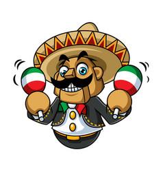 Mexico danza mascot design vector
