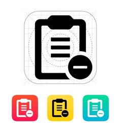 Minus clipboard icon vector image
