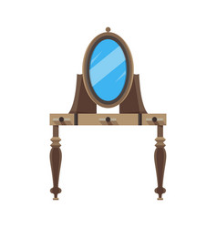 mirror flat icon front view isolated frame vector image